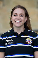 Sophie Bennett, First Team Manager poses for a portrait at a Bath Rugby photocall. Bath Rugby Media Day on August 28, 2014 at Farleigh House in Bath, England. Photo by: Rogan Thomson for Onside Images