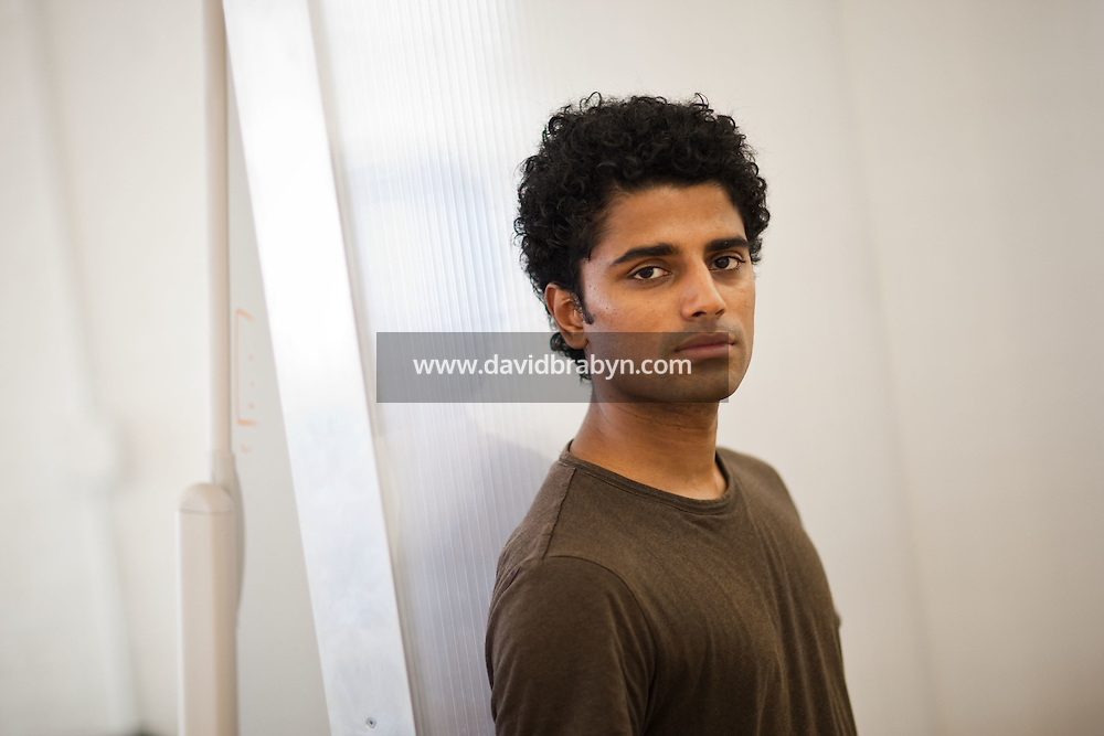 """Naveen Selvadurai, co-founder of social media website Foursquare, poses for the photographer in their shared office in New York, USA, 5 August 2009. Foursquare, which allows users to stay connected to friends and explore a city, has been dubbed """"the next Twitter"""" by an influential tech blog."""