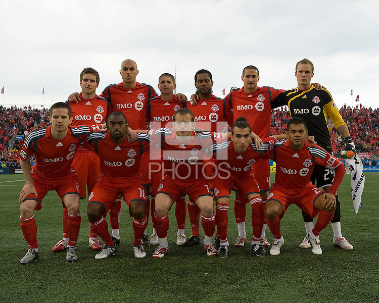 2 May 2009: Toronto FC starting eleven at BMO Field in Toronto in a  game between the Columbus Crew and Toronto FC..The game ended in a 1-1 draw.