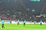 04.11.2018, Opel-Arena, Mainz, GER, 1 FBL, 1. FSV Mainz 05 vs SV Werder Bremen, <br /> <br /> DFL REGULATIONS PROHIBIT ANY USE OF PHOTOGRAPHS AS IMAGE SEQUENCES AND/OR QUASI-VIDEO.<br /> <br /> im Bild: Die Bremer Fans<br /> <br /> Foto &copy; nordphoto / Fabisch