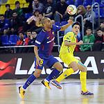 League LNFS 2017/2018 - Game 15.<br /> FC Barcelona Lassa vs Gran Canaria FS: 9-2.<br /> Leo Santana vs Ivan Gonfaus.
