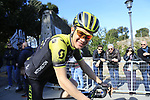 Chris Juul Jensen (IRL/DEN) Mitchelton-Scott at sign on in Fortezza Medicea before the start of Strade Bianche 2019 running 184km from Siena to Siena, held over the white gravel roads of Tuscany, Italy. 9th March 2019.<br /> Picture: Eoin Clarke | Cyclefile<br /> <br /> <br /> All photos usage must carry mandatory copyright credit (© Cyclefile | Eoin Clarke)