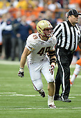 Boston College Eagles linebacker Steele Divitto (49) during a game against the Syracuse Orange at the Carrier Dome on November 30, 2013 in Syracuse, New York.  Syracuse defeated Boston College 34-31.  (Copyright Mike Janes Photography)