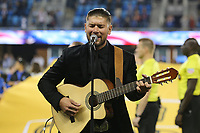 San Jose, CA - Saturday September 16, 2017: Singer prior to a Major League Soccer (MLS) match between the San Jose Earthquakes and the Houston Dynamo at Avaya Stadium.