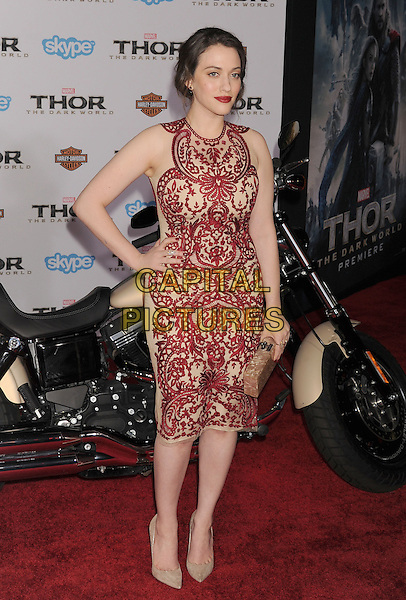 HOLLYWOOD, CA - NOVEMBER 04: Kat Dennings at the Los Angeles Premiere 'Thor: The Dark World' at the El Capitan Theatre on November 4, 2013 in Hollywood, California, USA.<br /> CAP/ROT/TM<br /> &copy;Tony Michaels/Roth Stock/Capital Pictures