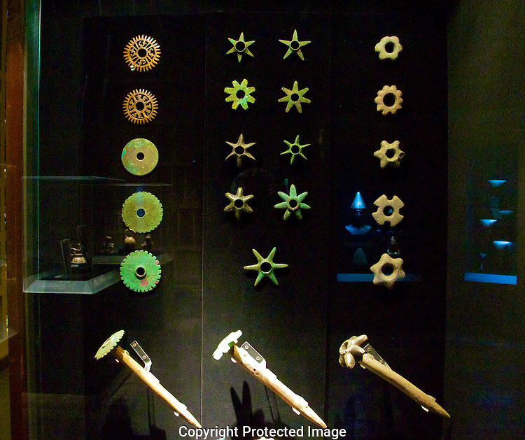 Incan weapons. Larco Museum.Lima, Peru