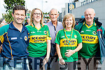 Shay Galvin (Listowel), Nora Corridan (Tralee), Billy Galvin (Listowel), Joan Griffin (Tralee) and Eamon Kissane (Ballybunion), who attended the All-Ireland football semi-final Kerry v Dublin in Croke Park on Sunday.