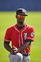 New Hampshire Fisher Cats right fielder Melky Mesa (2) during warmups before a game against the Reading Fightin Phils on June 6, 2016 at FirstEnergy Stadium in Reading, Pennsylvania.  Reading defeated New Hampshire 2-1.  (Mike Janes/Four Seam Images)