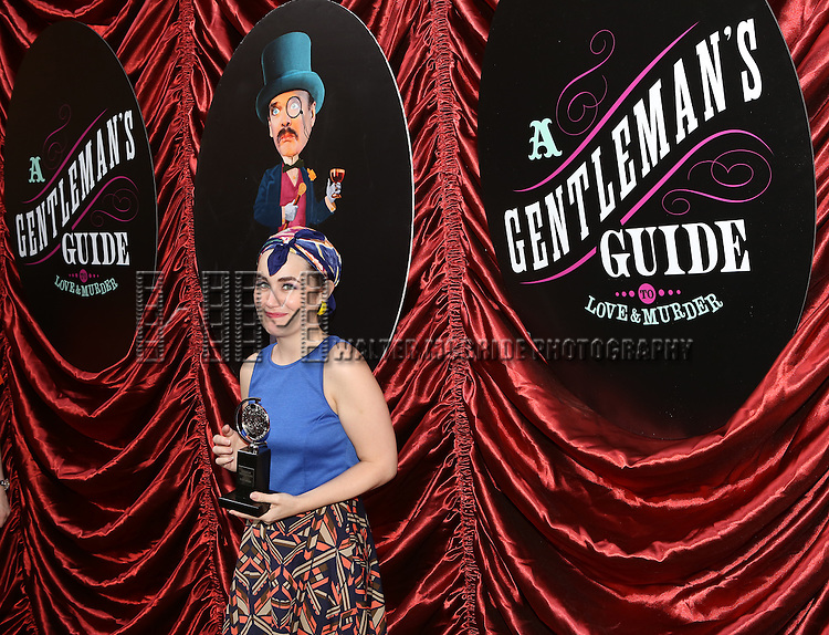 Lauren Worsham  during the cast and fan Tony Award celebration outside 'A Gentleman's Guide to Love and Murder'  at Walter Kerr Theatre on June 18, 2014 in New York City..