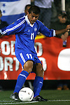 El Salvador's Ronald Cerritos takes a corner kick on Tuesday, March 27th, 2007 at SAS Stadium in Cary, North Carolina. The Honduras Men's National Team defeated El Salvador 2-0 in a men's international friendly.
