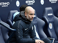 Manchester City manager Josep Guardiola <br /> <br /> Photographer Rich Linley/CameraSport<br /> <br /> Emirates FA Cup Fourth Round - Manchester City v Burnley - Saturday 26th January 2019 - The Etihad - Manchester<br />  <br /> World Copyright © 2019 CameraSport. All rights reserved. 43 Linden Ave. Countesthorpe. Leicester. England. LE8 5PG - Tel: +44 (0) 116 277 4147 - admin@camerasport.com - www.camerasport.com