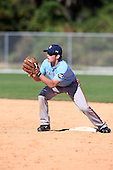 December 29, 2009:  Nick Nictakis (8) of the Baseball Factory Tar Heels team during the Pirate City Baseball Camp & Tournament at Pirate City in Bradenton, Florida.  (Copyright Mike Janes Photography)