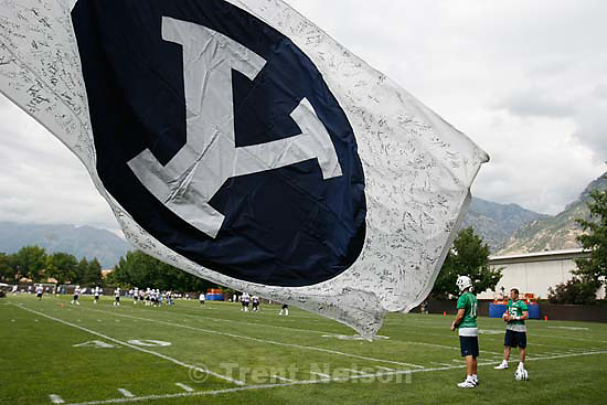 Provo - BYU football practice, Saturday, August 8 2009..