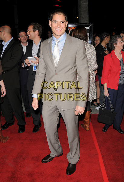 "SEAN FARIS.Attends The Summit Entertainment Premiere of ""Never Back Down"" held at The Arclight in Hollywood, California, USA,  March 04 2008                                                                                   Full length beige tan suit tie.CAP/DVS.??Debbie VanStory/Capital Pictures"