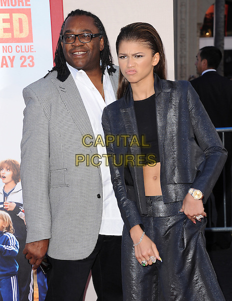 HOLLYWOOD, CA - MAY 21: Kazembe Ajamu &amp; Zendaya Coleman attends the Los Angeles premiere of 'Blended' at TCL Chinese Theatre on May 21, 2014 in Hollywood, California.                                                                   <br /> CAP/DVS<br /> &copy;DVS/Capital Pictures