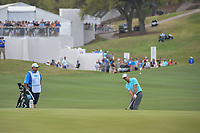 Kevin Kisner (USA) chips on to 12 during sudden death playoff with Alex Noren (SWE) during day 5 of the World Golf Championships, Dell Match Play, Austin Country Club, Austin, Texas. 3/25/2018.<br /> Picture: Golffile | Ken Murray<br /> <br /> <br /> All photo usage must carry mandatory copyright credit (&copy; Golffile | Ken Murray)
