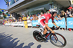 Mathias Le Turnier (FRA) Cofidis during Stage 1 of the La Vuelta 2018, an individual time trial of 8km running around Malaga city centre, Spain. 25th August 2018.<br /> Picture: Ann Clarke | Cyclefile<br /> <br /> <br /> All photos usage must carry mandatory copyright credit (© Cyclefile | Ann Clarke)