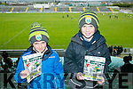 l-r  Eoin Mangan and Cian Mangan from Leith East, Tralee at Kerry's win over Carlow at Austin Stack's park on Sunday