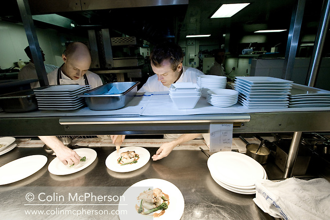 Award-winning chef Eyck Zimmer, pictured working in the kitchen of Rocco Forte's Lowry Hotel in Manchester, England. Zimmer left the restaurant in 2008 to become the head chef at the Ritz in Lisbon, Portugal.