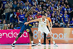 Felipe Reyes (r) and Youssoupha Fall during Real Madrid vs Kirolbet Baskonia game of Liga Endesa. 19 January 2020. (Alterphotos/Francis Gonzalez)