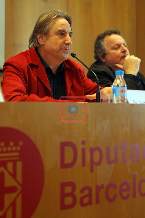 XXII Premis de Teatre de Catalunya.<br /> Presentacio Nominacions Premis Butaca 2016.<br /> Juanjo Puigcorbe &amp; Ramon Muntaner.