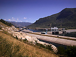 hydro electric generating station, Columbia River, Castlegar, BC<br />