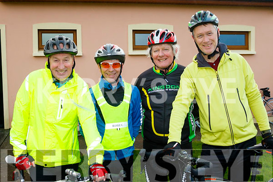 L-R Joe Cooper, Paul Carey, John Galvin&Denis Sugrue about to take part in the Jimmy Duffy memorial cycle last Saturday from Blennerville.