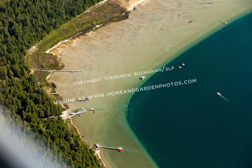 shoreline of Marquette Island across from Hessel, MI