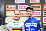 Julian Alaphilippe (FRA) Deceuninck-Quick Step wins the 83rd edition of La Fl&egrave;che Wallonne 2019, while World Champion Anna van der Breggen (NED) Boels-Dolmans conquered the Fl&egrave;che Wallonne Femmes for a fifth time, running 195km from Ans to Huy, Belgium. 24th April 2019<br /> Picture: ASO/Gautier Demouveaux | Cyclefile<br /> All photos usage must carry mandatory copyright credit (&copy; Cyclefile | ASO/Gautier Demouveaux)