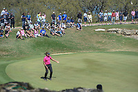 Ian Poulter (GBR) reacts to barely missing is birdie putt on 11  during round 1 of the World Golf Championships, Dell Match Play, Austin Country Club, Austin, Texas. 3/21/2018.<br /> Picture: Golffile | Ken Murray<br /> <br /> <br /> All photo usage must carry mandatory copyright credit (&copy; Golffile | Ken Murray)