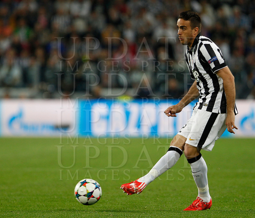 Calcio, quarti di finale di andata di Champions League: Juventus vs Monaco. Torino, Juventus stadium, 14 aprile 2015.<br /> Alessandro Matri in action during the Champions League quarterfinals first leg football match between Juventus and Monaco at Juventus stadium, 14 April 2015.<br /> UPDATE IMAGES PRESS/Isabella Bonotto
