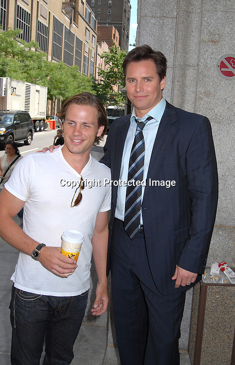 Forbes March and Dan Gauthier..outside The One Life to Live Studio after celebrating the 10, 000th taping on July 3, 2007. Some of the ex stars were there taping scenes. ....Robin Platzer, Twin Images....212-935-0770