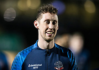 Bolton Wanderers' Joe Bunney warming up before the match <br /> <br /> Photographer Andrew Kearns/CameraSport<br /> <br /> The Premier League - Leicester City v Aston Villa - Monday 9th March 2020 - King Power Stadium - Leicester<br /> <br /> World Copyright © 2020 CameraSport. All rights reserved. 43 Linden Ave. Countesthorpe. Leicester. England. LE8 5PG - Tel: +44 (0) 116 277 4147 - admin@camerasport.com - www.camerasport.com