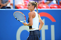 Washington, DC - August 4, 2019: Camila Giorgi (ITA) waits for a point challenge against Jessica Pegula (USA) NOT PICTURED during the WTA Citi Open Woman's Finals at Rock Creek Tennis Center, in Washington D.C. (Photo by Philip Peters/Media Images International)