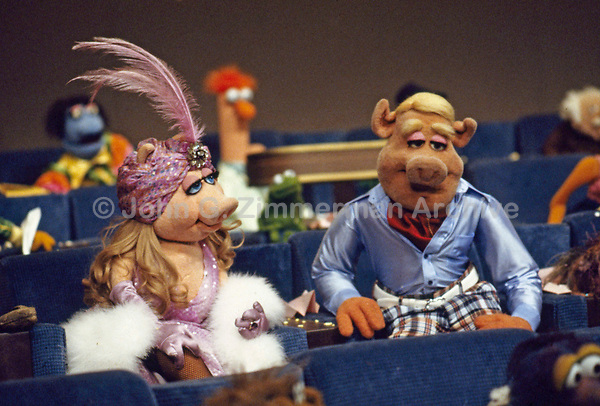 Miss Piggy during filming of Muppet Movie, CBS studios, Los Angeles, 1978. Photo by John G. Zimmerman.