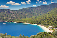 The famous beach Antisamos in Kefalonia island, Greece