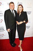 BURBANK - APR 27: Ara Najarian, Palmira Perez Najarian at the Faith, Hope and Charity Gala hosted by Catholic Charities of Los Angeles at De Luxe Banquet Hall on April 27, 2019 in Burbank, CA