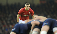 Wales' George North during the game <br /> <br /> Photographer Ian Cook/CameraSport<br /> <br /> Under Armour Series Autumn Internationals - Wales v Scotland - Saturday 3rd November 2018 - Principality Stadium - Cardiff<br /> <br /> World Copyright © 2018 CameraSport. All rights reserved. 43 Linden Ave. Countesthorpe. Leicester. England. LE8 5PG - Tel: +44 (0) 116 277 4147 - admin@camerasport.com - www.camerasport.com