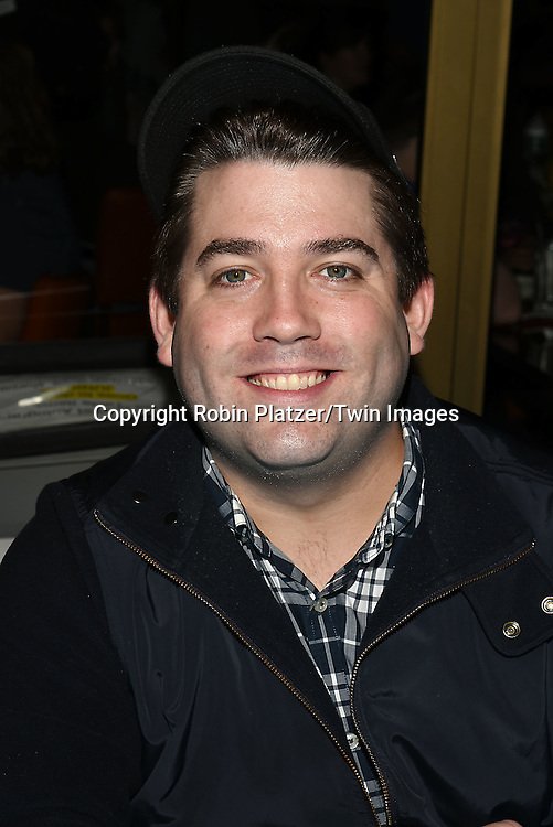Christopher John O'Neill attends the Broadway Cares/Equity Fights Aids Flea Market and Grand Auction on September 25, 2016 at the Music Box Theatre and in Shubert Ally in New York, New York, USA. <br /> <br /> photo by Robin Platzer/Twin Images<br />  <br /> phone number 212-935-0770