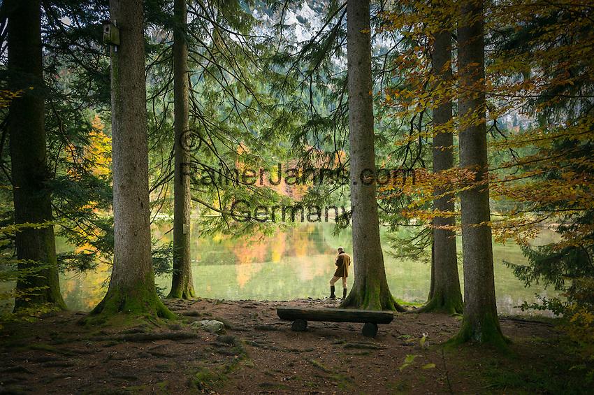 Austria, Upper Austria, Salzkammergut, near Aurach am Hongar: lake 'Taferlklaussee' at country park 'Hoellengebirge Hongar' | Oesterreich, Oberoesterreich, Salzkammergut, bei Aurach am Hongar: der Taferlklaussee im Naturschutzgebiet Landschaftspark Hoellengebirge Hongar