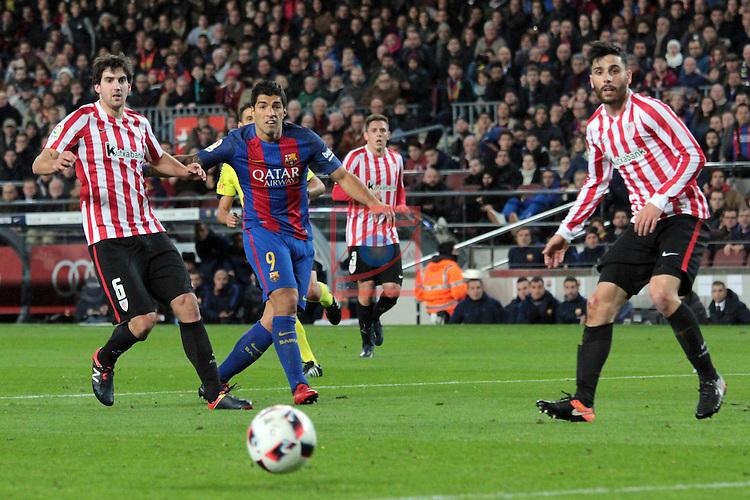 Copa del Rey 2016/2017 - 1/8 final vuelta.<br /> FC Barcelona vs Athletic Club: 3-1.<br /> San Jose, Suarez &amp; Boveda.