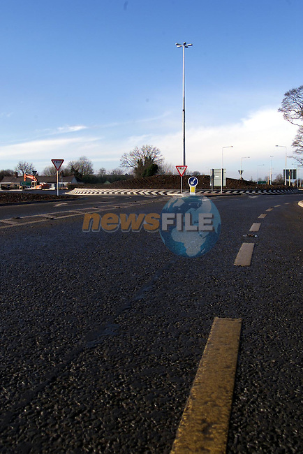 The Ardee roundabout on the new link road to the Dunleer-Dundalk motorway..pic: Newsfile