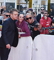 "TORONTO, ONTARIO - SEPTEMBER 09: Matt Damon attends the ""Ford v Ferrari"" premiere during the 2019 Toronto International Film Festival at Roy Thomson Hall on September 09, 2019 in Toronto, Canada. <br /> CAP/MPI/IS<br /> ©IS/MPI/Capital Pictures"
