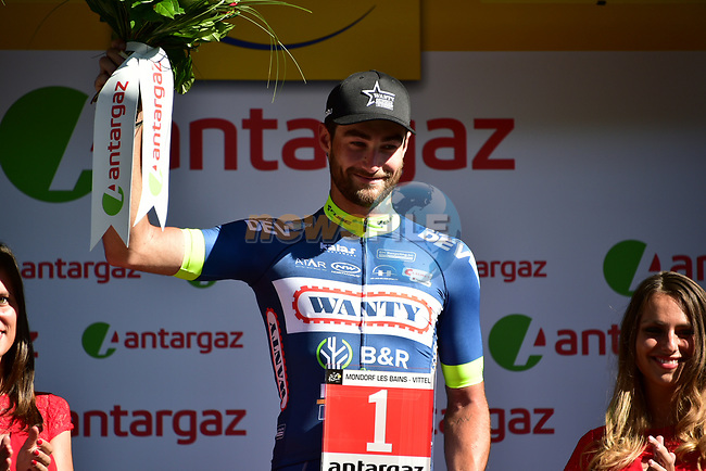 Guillaume Van Keirsbulck (BEL) Wanty-Groupe Gobert wins the combativity award at the end of Stage 4 of the 104th edition of the Tour de France 2017, running 207.5km from Mondorf-les-Bains, Luxembourg to Vittel, France. 4th July 2017.<br /> Picture: ASO/Pauline Ballet | Cyclefile<br /> <br /> <br /> All photos usage must carry mandatory copyright credit (&copy; Cyclefile | ASO/Pauline Ballet)