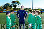 Darren Ahern FAI Development officer for County Kerry with u13 Kerry Development players l-r: Ben O'Callaghan, Andrew Kerins, Billy Doyle, Stephen Gannon, Cathal Kelleher at training in Killarney on Sunday