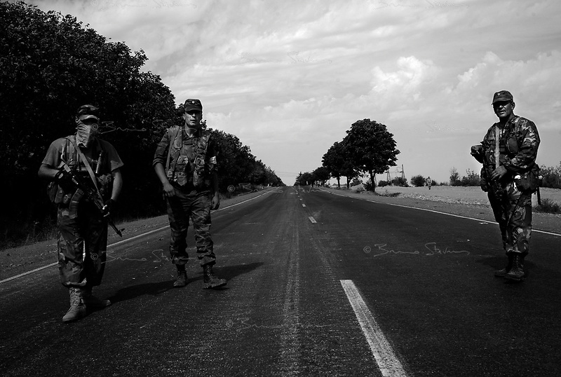 Near Gori, Georgia, August 15, 2008.Russian troops control the main highway all the way to Goeti junction, a mere 38km away from the Georgian capital, Tbilissi.