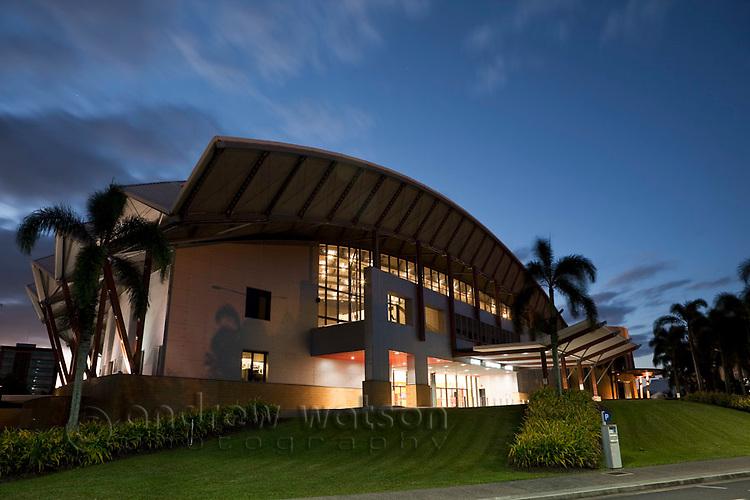 Cairns Convention Centre at dusk.  Cairns, Queensland, Australia