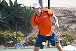 April 23, 2015; San Diego, CA, USA; Pepperdine Waves tennis player Guilherme Hadlich during the WCC Tennis Championships at Barnes Tennis Center.