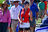 Jon Rahm's (ESP) girlfriend, Kelley Cahill shows her support for Jon on 16 during the round 1 of the Dean &amp; Deluca Invitational, at The Colonial, Ft. Worth, Texas, USA. 5/25/2017.<br /> Picture: Golffile | Ken Murray<br /> <br /> <br /> All photo usage must carry mandatory copyright credit (&copy; Golffile | Ken Murray)