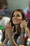 LONDON, ENGLAND - AUGUST 9:  Catherine, Duchess of Cambridge during the Synchronized Swimming Team Athletics Competition, Day 14 of the London 2012 Olympic Games on August 8, 2012 at Olympic Park in London, England. (Photo by Donald Miralle)